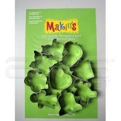 Makins Clay - Makin's Clay Kesici Kalıp Seti Günlük 9 Desen Kod:37012 (1)