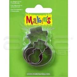 Makins Clay - Makin's Clay Kesici Kalıp Seti Karadam Kod:36015