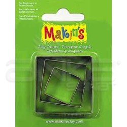 Makins Clay - Makin's Clay Kesici Kalıp Seti Kare 3 Parça Kod:36002 (1)