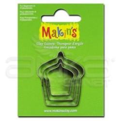 Makins Clay - Makin's Clay Kesici Kalıp Seti Kek 3 Parça Kod:36027