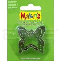 Makins Clay - Makin's Clay Kesici Kalıp Seti Kelebek 3 Parça Kod:36009 (1)