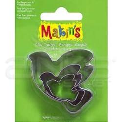 Makins Clay - Makin's Clay Kesici Kalıp Seti Kumru 3 Parça Kod:36012