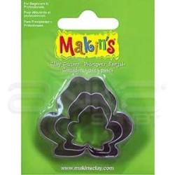 Makins Clay - Makin's Clay Kesici Kalıp Seti Kurbağa 3 Parça Kod:36010