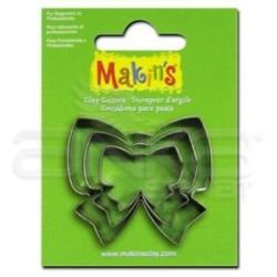 Makins Clay - Makin's Clay Kesici Kalıp Seti Kurdela 3 Parça Kod:36022