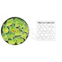 Makins Clay - Makin's Clay Kesici Kalıp Seti Mini Geometrik 12 Desen Kod:37004 (1)