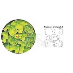 Makins Clay - Makin's Clay Kesici Kalıp Seti Rakamlar 8 Desen Kod:37002