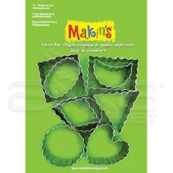 Makins Clay - Makin′s Clay Kesici Kalıp Seti Şekiller 9 Desen Kod:37020