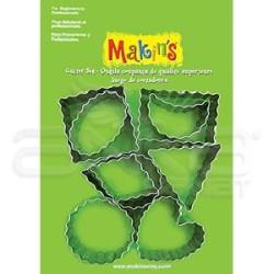 Makins Clay - Makin′s Clay Kesici Kalıp Seti Şekiller 9 Desen Kod:37020 (1)
