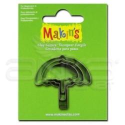 Makins Clay - Makin's Clay Kesici Kalıp Seti Şemsiye 3 Parça Kod:36025