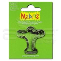 Makins Clay - Makin's Clay Kesici Kalıp Seti Uçak 3 Parça Kod:36026