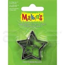 Makins Clay - Makin's Clay Kesici Kalıp Seti Yıldız 3 Parça Kod:36006
