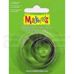 Makins Clay - Makin's Clay Kesici Kalıp Seti Yuvarlak 3 Parça Kod:36001