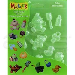 Makins Clay - Makin's Clay Push Mold Şekilleme Kalıbı Bebek Kod:39009 (1)