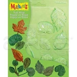 Makins Clay - Makin's Clay Push Mold Şekilleme Kalıbı Yapraklar Kod:39001 (1)