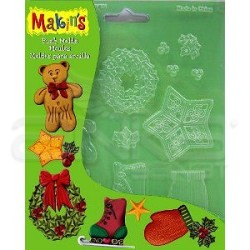 Makins Clay - Makin's Clay Push Mold Şekilleme Kalıbı Yılbaşı Süsleri Kod:39007