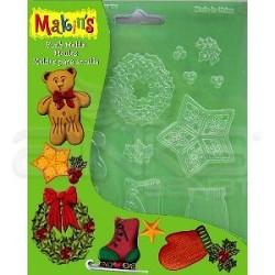 Makins Clay - Makin's Clay Push Mold Şekilleme Kalıbı Yılbaşı Süsleri Kod:39007 (1)