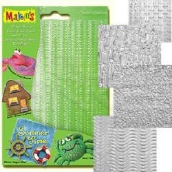Makins Clay - Makin's Clay Texture Sheets Doku Kalıpları 4lü Set A