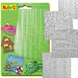 Makins Clay - Makin's Clay Texture Sheets Doku Kalıpları 4lü Set A (1)