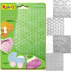 Makins Clay - Makin's Clay Texture Sheets Doku Kalıpları 4lü Set C (1)
