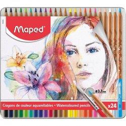 Maped - Maped Watercoloured Pencils Sulu Boya Kalem Seti 3.7mm 24lü
