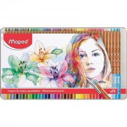 Maped - Maped Watercoloured Pencils Sulu Boya Kalem Seti 3.7mm 72li