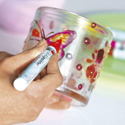 Marabu - Marabu Glass Painter Transparent Cam - Porselen Boyama Kalemi (1)
