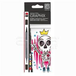 Marabu Graphix Aqua Pen 6lı Set King Of Bubblegum - Thumbnail