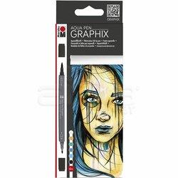 Marabu - Marabu Graphix Aqua Pen 6lı Set Metropolitan