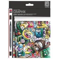 Marabu - Marabu Graphix Mega Mash Aqua Pen Set 12 Renk
