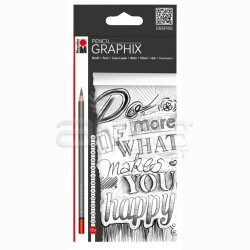 Marabu - Marabu Graphix Pencil Dereceli Kalem Seti 12li