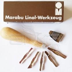 Marabu - Marabu Linol Oyma Bıçağı 5li Set (1)