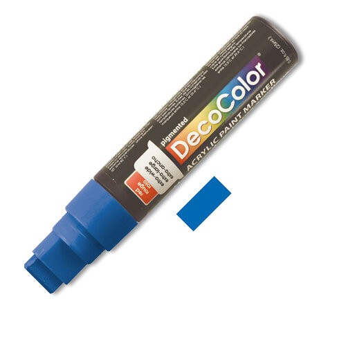 Marvy Decocolor Acrylic Jumbo Paint Marker 15mm Blue - Blue