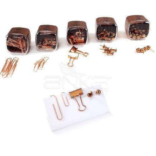 Mas Cubbie Premium Masaüstü Ofis Gereçleri 5li Set Rose Gold