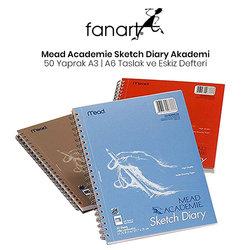 Mead Academie Sketch Diary Akademi Taslak ve Çizim Eskiz Defteri 50 Yaprak - Thumbnail