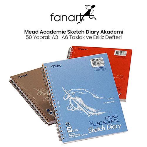 Mead Academie Sketch Diary Akademi Taslak ve Çizim Eskiz Defteri 50 Yaprak