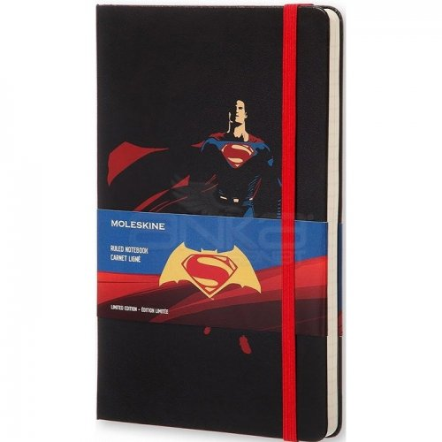 Moleskine Batman vs Superman 13x21 cm Çizgili Defter