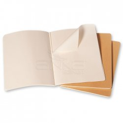 Moleskine - Moleskine Cahier 3lü XL Boy Düz Defter Bej (1)