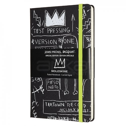 Moleskine Jean-Michel Basquiat 13x21 cm Çizgili Defter Siyah