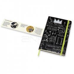 Moleskine Jean-Michel Basquiat 13x21 cm Çizgili Defter Siyah - Thumbnail