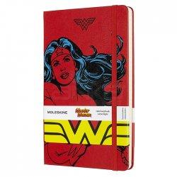 Moleskine - Moleskine Wonder Woman 13x21 cm Çizgili Defter Kırmızı