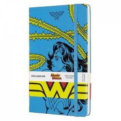 Moleskine - Moleskine Wonder Woman 13x21 cm Çizgili Defter Mavi