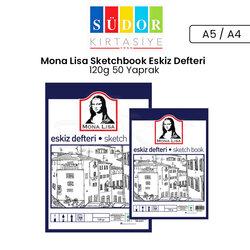 Südor - Mona Lisa Sketchbook Eskiz Defteri 120g 50 Yaprak