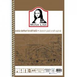 Monalisa - Mona Lisa Spiralli Eskiz Defteri Kraft 50 Yaprak 120g (1)