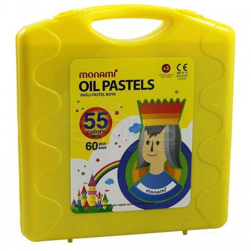 Monami Yağlı Pastel Boya 55 Renk Sarı Çantalı