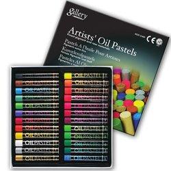 Mungyo Gallery Artists Oil Pastel 24lü Set Metalik + Fosforlu Renkler - Thumbnail