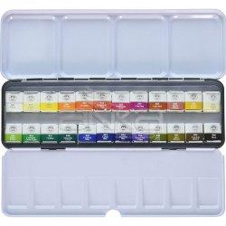 Mungyo Gallery Artists Watercolor Set 24 Renk Yarım Tablet - Thumbnail