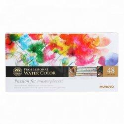 Mungyo - Mungyo Gallery Artists Watercolor Set 48 Renk Yarım Tablet MWPF-48C (1)