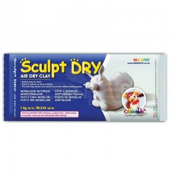 Mungyo - Mungyo Air Sculpt Dry Seramik Hamuru Beyaz (1)