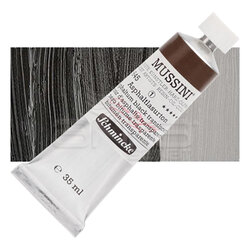 Mussini - Mussini 35ml Yağlı Boya Seri:1 No:645 Asphaltum Black Translucent