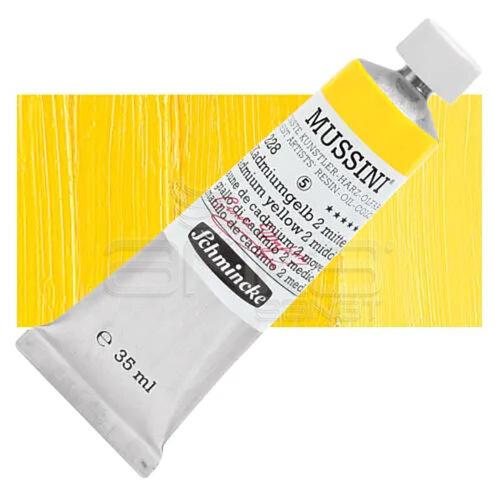 Mussini 35ml Yağlı Boya Seri:5 No:228 Cadmium Yellow 2 Middle - 228 Cadmium Yellow 2 Middle